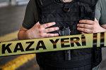 Түркиянын полиция кызматкери. Архив