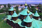 Кыргызстандын архитектуралык эстеликтери — Караколдогу жыгачтан жасалган чиркөө