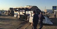 Последствия крупного ДТП в Дагестане, где погибли 9 человек