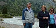 Семья Атамбаевых прогулялась с Меркель по парку Ала-Арча