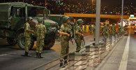 Военнослужащие Турции на одой из улиц Анкары