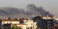 Дым от президентского дворца в Анкаре