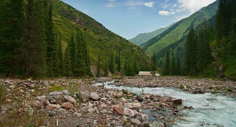 Долина Кегеты. Долина находится в 120 километрах к востоку от Бишкека