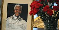 Портрет Нельсона Манделы. Архивное фото