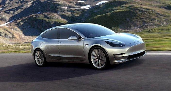 Автомобиль Tesla Motors model-3. Архивное фото