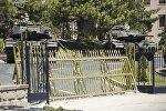 Танки стоят перед зданием главного штаба в Анкаре, Турция. Архивное фото