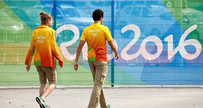 Рио олимпиадасындагы волонтерлор. Архив