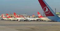Turkish Airlines авиакомпаниясынын учактары. Архив