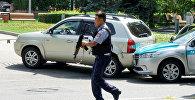 Сотрудник полиции Алматы. Архивное фото