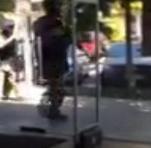 Нападение на отделение полиции в Алма-Ате. Кадры с места ЧП