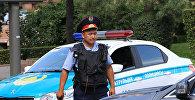 Алматы полиция кызматкери. Архив