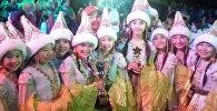 Победа в фестивале в Армении младшой группы народного образцового ансамбля танца Жаш-Кыял