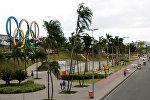Люди в парке Мадурейро в Рио-де-Жанейро, Бразилия. Архивное фото