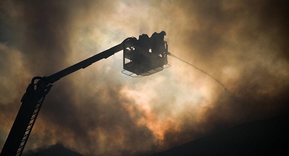 Пожар вресторане кыргызской кухни «Манас» вТашкенте потушен, никто непострадал