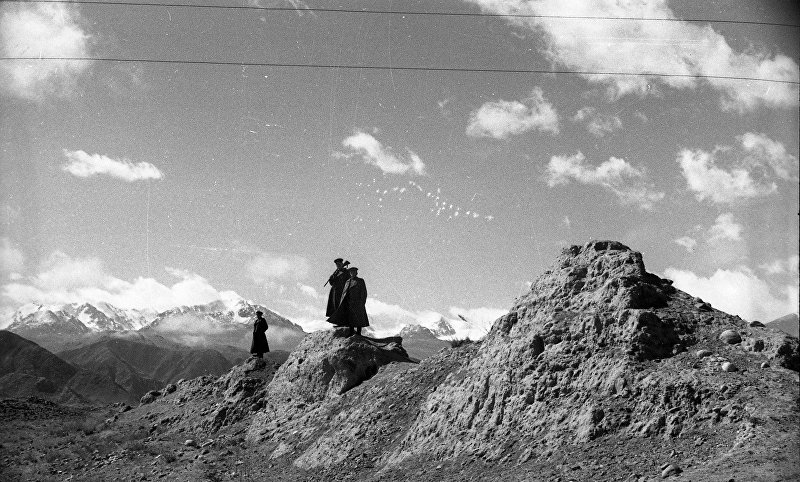 Вид на китайский вал в 1916, Иссык-Кульская область
