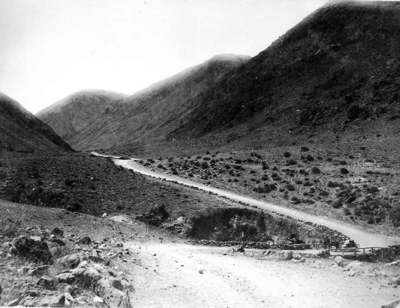 Боомское ущелье, дорога через которую спасались восставшие кыргызы 1916 года (1930 год)