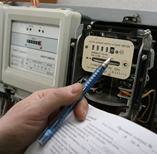 Снятие показаний электросчетчиков. Архивное фото