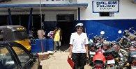 Капитан МВД КР Нуржан Нуржанова, которая выполняет миротворческую миссию в Либерии. Архивное фото