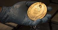 Золотая медаль олимпийских игр 2016 года. Архивное фото