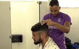 Вратарь Реала Навас подрабатывает парихмахером для футболистов