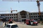 Жал кичирайонунда курулуп жаткан кыргыз-кытай мектеби