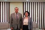Встреча первого заместителя МИД КР Динары Кемеловой с послом Российской Федерации в Кыргызской Республике А. Крутько