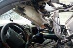 Взрыв машины работника прокуратуры в селе Орто-Сай