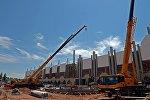Ремонтные работы по реконструкции ипподрома в селе Бактуу-Долоноту