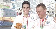 Рио-де-Жанейродогу Олимпиадалык оюндарда КРдин курама командасындагы эң жаш спортчу Денис Петрашов. Архив