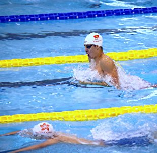 Участник Олимпиады-2016 кыргызстанский пловец Денис Петрашов