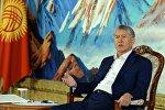 Президент Алмазбек Атамбаев Чолпон-Атадагы маалымат жыйынында