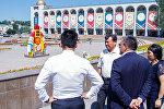 Бишкектин мэри Албек Ибраимов Ала-Тоо аянтындагы жолдорду оңдоо иштери менен таанышып чыкты