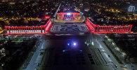 Центральная площадь Ала-Тоо. Вид с высоты птичьего полета. Архивное фото