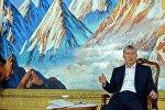 Президент Кыргызской Республики Алмазбек Атамбаев на пресс-конференции в городе Чолпон-Ата. Архивное фото