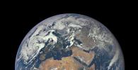 Вид на планету Земля с космоса. Архивное фото