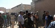 Боевики сдались в гумкоридоре в Алеппо, где жители города получали помощь