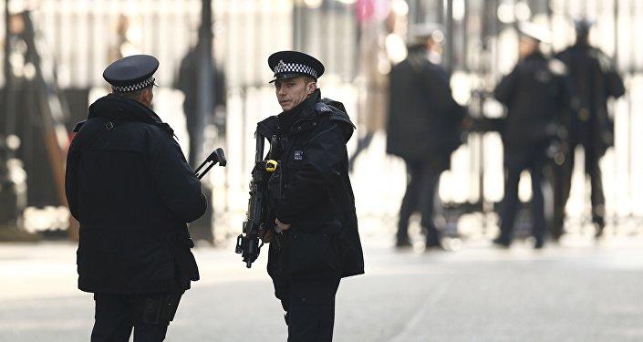 Лондон шаарындагы полиция кызматкерлери. Архив