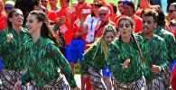 Церемония поднятия государственного флага Кыргызской Республики в Олимпийской деревне Рио-де-Жанейро