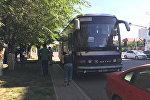 Автобус ехавший рейсом Екатеринбург — Бишкек задержанный в Астане