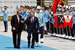 Казакстандын президенти Нурсултан Назарбаев Түркия лидери Режеп Тайип Эрдоган менен жолугушуу учурунда