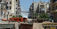 Разрушенные дома в районе Салах-ад-дин в Алеппо.