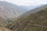 Горная дорога в село Зардалы в Баткенской области. Архивное фото