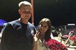Бишкекчанин Никита сделавший предложение своей девушке Полине на Международном внедорожном фестивале
