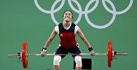 Архивное фото кыргызстанской тяжелоатлетки Жаныл Окоевой