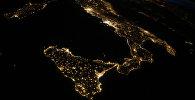 Ночной вид на землю из космоса