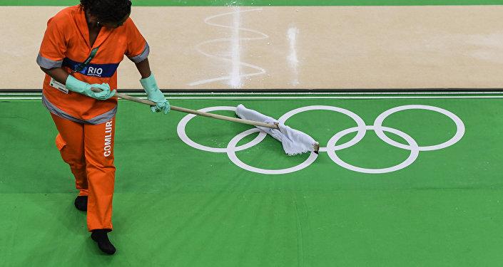 На олимпийской арене Рио в олимпийском парке перед началом тренировки. Архивное фото