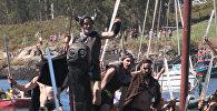 Викинги на драккарах подошли к побережью Испании. Кадры реконструкции