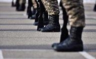 Военнослужащие Кыргызстана на службе. Архивное фото