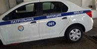 Автомашина марки Renault Logan на котором будут ездить сотрудники патрульной милиции