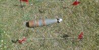 Снаряд от 100-миллиметровой зенитной пушки КС-19 найденный в Ошской области